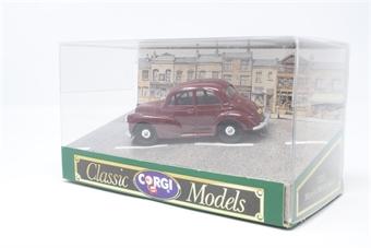 D702G-PO01 Morris Minor 1000 Saloon in Maroon - Pre-owned - Very good box