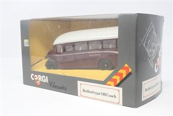 D949-18-PO06 Bedford OB Coach - 'Devon General' - Pre-owned - Good box