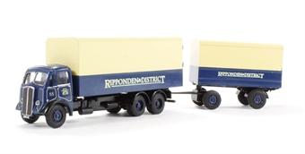 DA48 AEC Mammoth van & drawbar van trailer 'Ripponden & District' (circa 1949-1959)