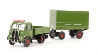 DA50 AEC Ballast tractor & drawbar van trailer 'BRS Parcels' (circa 1948-1958)