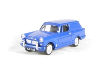 EM76684 Triumph Courier Van in Blue, with opening bonnet.