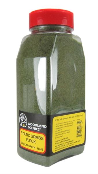 FL635 Static Grass Flock - Medium Green
