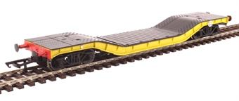 H4-WW-013 Warwell wagon 50t with diamond frame bogies ADRW96501 in BR engineers yellow