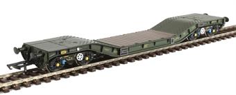 H4-WW-014 Warwell wagon 50t with Gloucester GPS bogies MODA95511 in MOD 1970s olive