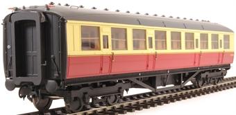 H7-TC115-004-GA Gresley Teak coach Diagram 115 Corridor Third E12675E in BR carmine & cream livery