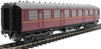 H7-TC115-006-GA Gresley Teak coach Diagram 115 Corridor Third E12493E in BR maroon livery