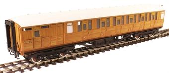 H7-TC175-002 Gresley Teak coach Diagram 175 Brake Corridor Composite 24068 in LNER Teak livery