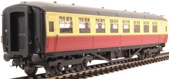 H7-TC186-004-GA Gresley Teak coach Diagram 186 Open Third E13293E in BR carmine & cream livery