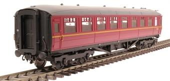 H7-TC186-005-GA Gresley Teak coach Diagram 186 Open Third unnumbered in BR maroon livery