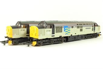 L149932 Class 37 37423 & 37428 'Sir Murray Morrison/David Lloyd George' in Railfreight Grey - Limited Edition of 330