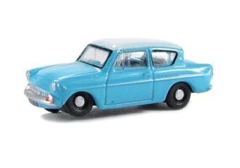 N105007 Ford Anglia Caribbean Turquoise/White .