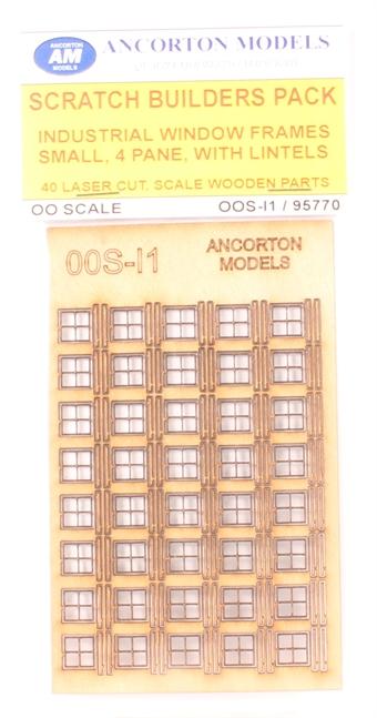 OOS-11 Industrial window frames - for kit or scratch-built buildings