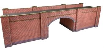 PO246 Double-track railway overbridge - red brick - card kit