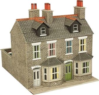 PO262 Pair of stone terraced houses - card kit