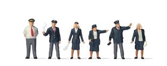 PR73005 British Rail station staff - pack of six