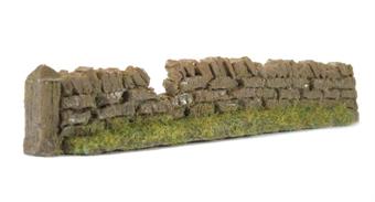 PW1LBDAM Roadside Walling Rough - Light Brown - Damaged - 135mm