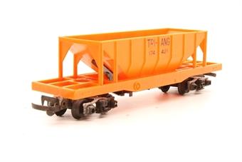 R111TRI-PO01 Operating hopper car 174421 in orange - Pre-owned - Replacement box