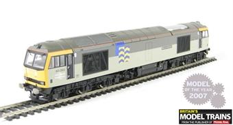 R2747 Class 60 60062 'Samuel Johnson' in BR Railfreight Petroleum