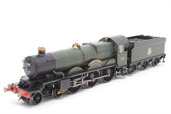 "R2986Loco Castle Class 4-6-0 steam locomotive 7036 ""Taunton Castle"" & tender in BR green (Unboxed)"