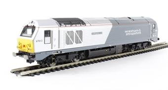 "R3038 Class 67 67012 ""A Shropshire Lad"" in Wrexham & Shropshire livery"