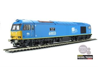 "R3051 Class 60 60033 ""Tees Steel Express"" in British Steel Blue with EWS cabside branding"