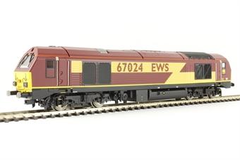 R3349 Class 67 67024 in EWS livery