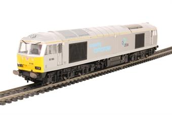 "R3479 Class 60 60066 in DB Schenker/Drax ""Powering Tomorrow"" silver"