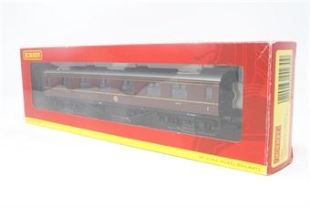 R4230-PO17 LMS standard period 3 corridor 1st class coach in crimson - Pre-owned - Good box