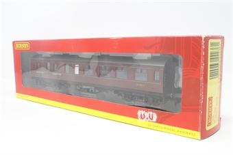 R4236-PO24 Stanier BR (ex LMS) corridor brake 3rd class coach in maroon - Pre-owned - Good box