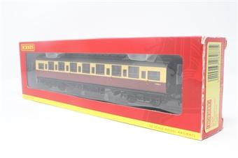 R4343B-PO10 BR Blood and Custard Maunsell Corridor 3rd Class (High Window) B - Pre-owned - Fair box