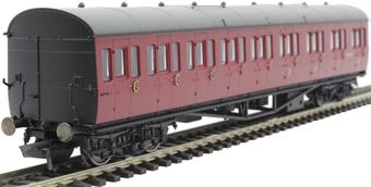 R4878 Collett 57' 'Bow ended' non-corridor composite (Left-hand) in BR crimson - W6630W