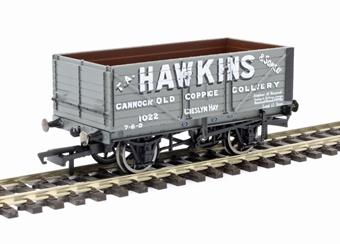"R6875 7-plank open wagon ""Hawkins, Cannock"""