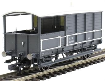 R6921 20 ton AA15 'Toad' brake van 56705 in GWR grey