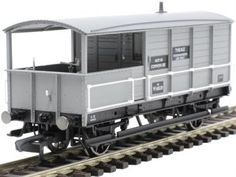 R6922 20 ton AA15 'Toad' brake van W68530 in BR grey