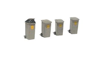 "R8577 Wheelie dustbins x 4 - Skaledale ""Street life collection"""