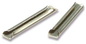 SL-10 Metal rail joiners/fishplates (for code 100 rails inc Hornby, Peco & Peco Streamline). For OO, HO & O gauge - Pack of 24