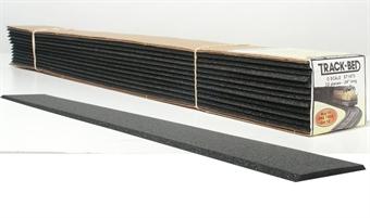 "ST1473 12 Single Track Strips of O Gauge Track Bed - 2.75"" x 24""."