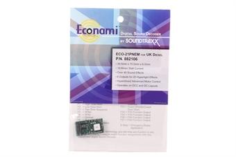 STX882106 Econami Sound Decoder - UK diesel - 21 pin
