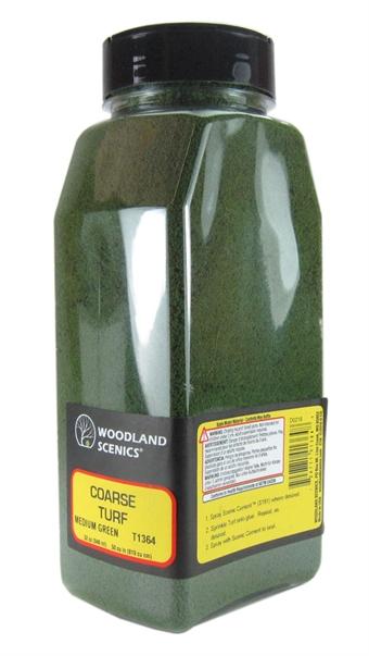 T1364 Shaker Of Coarse Turf - Medium green
