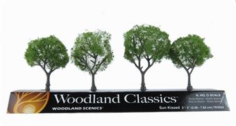 """TR3504 2 - 3"""" Sun Kissed (Medium) Trees - Pack Of 4"""