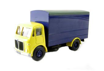 AM-05 AEC box van in yellow & blue