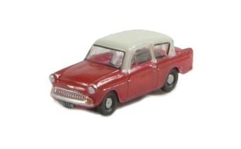 N105001 Ford Anglia 105E in red & cream