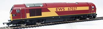 """R2522 Class 67 67027 """"Rising Star"""" in EWS maroon"""